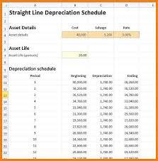 Depreciation Schedule Calculator 12 Straight Line Depreciation Calculator Phoenix Officeaz
