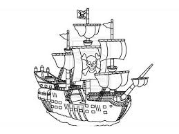 Kids pirates coloring pages free colouring pictures to print. Pirate Ship Transportation Printable Coloring Pages