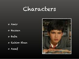 the kite runner chapter  characters amir hassan baba rahim khan assef