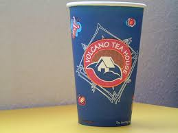 Volcano Tea House Blue Los Angeles Ca Majiscup Paper Cup Museum