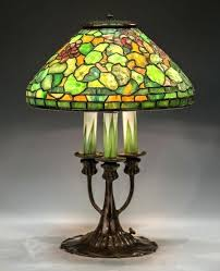 full image for vintage lighting new york city antique fixtures rare studios leaded glass geranium