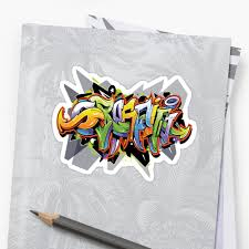 Design Graffiti T Shirts Urban Art Graffiti T Shirt Design Sticker By Angela Brown