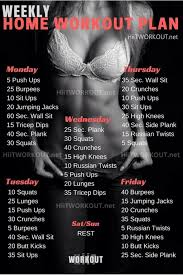 fitness tips weekly home workout