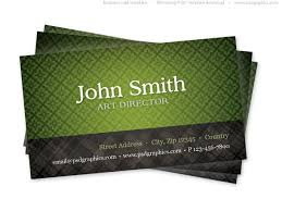 Green Card Template Green Business Card Template With Seamless Pattern Psdgraphics