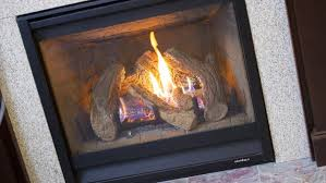 convert fireplace to gas. Gas Fireplace With Tile Surround And Hearth Convert To