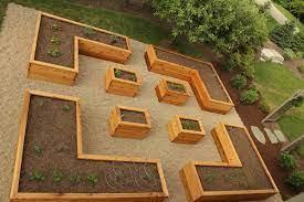 a modern urban raised bed garden