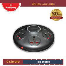 Ổ cắm Điện Quang ĐQ ESK 5R.10 (Kiểu UFO 6 lỗ 3 chấu 5 mét màu đỏ) | Công ty  Cổ phần bóng đèn Điện Quang