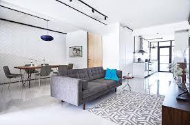 white floor tiles living room. 5 Stylish HDB Flat Living Rooms With White Walls And Floors 4 Floor Tiles Room