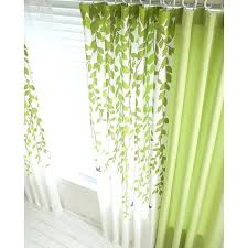 lime green curtains green and white leaf print poly cotton blend country living room lime