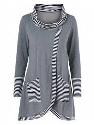 <b>Pinstriped Patchwork Pockets Design</b> Tee   Одежда, Женская ...