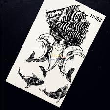 2511 руб 5 скидка1 шт новый дельфин татуировки Wterproof летний стиль временные