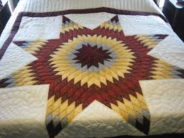 3 Modern Amish Quilt Designs and Appreciating Life | Cindy Woodsmall & The Lone Star Quilt is a very common design for Amish quilts. It can be  recognized by the large, single star in the center of the quilt. Adamdwight.com
