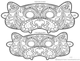Small Picture Mask Coloring Pages For Kids With Free Printable For Kids Archives