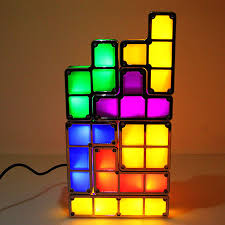 diy tetris puzzle novelty led night light stackable led desk table lamp constructible block kids toy s light gift in night lights from lights