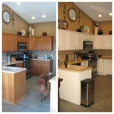 Steps To Remodel Kitchen Before After Kitchen Remodel Painted Oak Cabinets To Antique