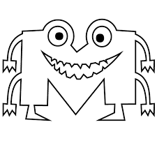 Learn english with your child! Letter M Coloring Page Babadoodle