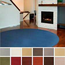 get ations hand loomed brinson solid casual wool round area rug 9 9 round
