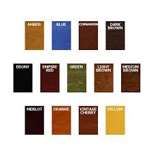 General Finishes Color Chart General Finishes Water Based Dye Stains Color Chart