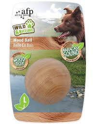 wild nature maracas wood ball large wooden dog toy with noise l 9 99