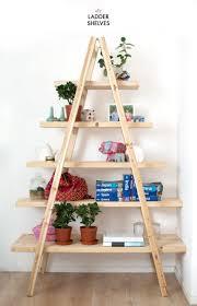 rustic a frame diy ladder shelf