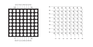 interfacing 8x8 led matrix arduino circuit diagram code 8x8 matrix pinout