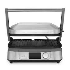 griddler 5 compact nonstick griddler grill and panni press in brushed stainless