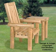 rustic furniture plans. rustic chair u0026 table wood project plans furniture