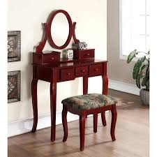 rustic wood makeup vanity antique wooden plans table set walnut dressing home improvement agreeable