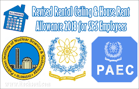Revised House Rent _al Ceiling 2018 For Sps Job
