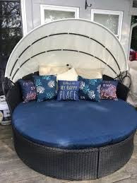 round outdoor daybed fitted cover soil