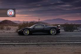 porsche 918 spyder black. black porsche 918 spyder with weissach pack gets hre wheels