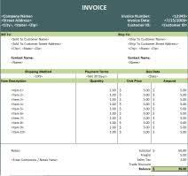 Invoice Spreadsheet Templates - East.keywesthideaways.co