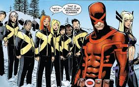 marvel super hero cyclops with his students