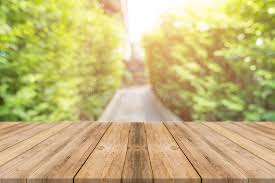 table background. Unique Background Download Wooden Board Empty Table Blur Trees In Forest Background  Can Be  Used Mock Up For