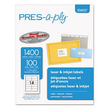 Avery Address Lables Avery Pres A Ply Laser Address Labels 1 1 3 X 4 White 1400 Box