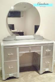 diy metallic furniture. Diy Metallic Furniture Faux Silver Leaf Art Vanity With Spray Paint Beautiful Makeover .
