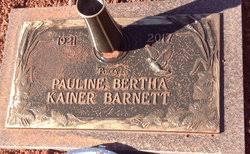 "Pauline Bertha ""Polly"" Kainer Barnett (1921-2017) - Find A Grave Memorial"