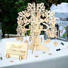 Sign Book For Wedding Details About 3d Wooden Guest Book Tree With 100 Hearts Visit Sign Wedding Baby Shower Decor