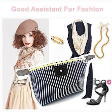 Buy Generic <b>New</b> Striped <b>Cosmetic Bag</b> Folding <b>Waterproof</b> Makeup ...