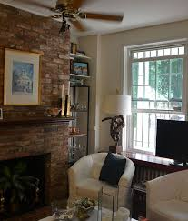 modern living room with brick fireplace. Wonderful Brick Painted Fireplace White Redo Concrete Masonry Home Decor Living Room Ideas Throughout Rooms With Fireplaces . Modern