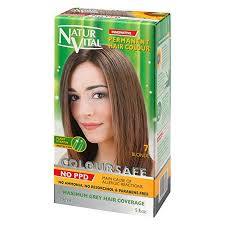 Natur Vital Permanent Hair Dye Permanent Hair Color Coloursafe No Ammonia Ppd Resorcinol Or Parabens 7 Blonde