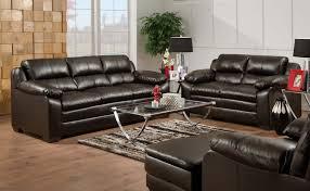 soho espresso bonded leather leather sofa loveseat