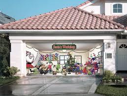 garage door muralsAmazoncom  Santas Workshop Outdoor Christmas Holiday Garage
