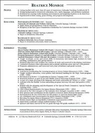 Career Objective For Teacher Resumes Career Objective For Teacher Resume Best Resume Collection