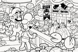 Coloring Pages Mario Coloring Free Super Mario Brothers Coloring Sheets Sheet