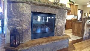 natural cleft fireplace surround