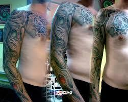 фото татуировки рукав в стиле биомеханика татуировки на руке