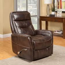 parker house gemini glider swivel recliner in truffle leatherette tap to expand