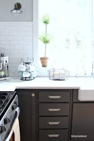Dark Gray Cabinets Kitchen Kitchen Cabinet Colors Before After The Inspired Room