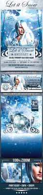 let it snow winter party flyer template by designroom1229 let it snow winter party flyer template clubs parties events